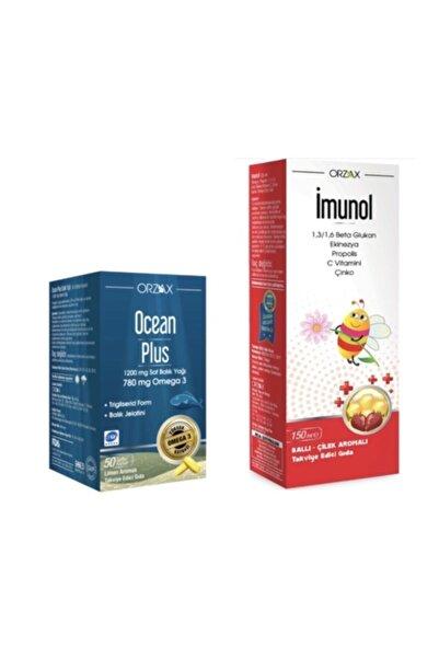 İMUNOL Ocean Plus Omega 3 1200 mg 50 Kapsül Limon + Imunol Şurup 150 ml