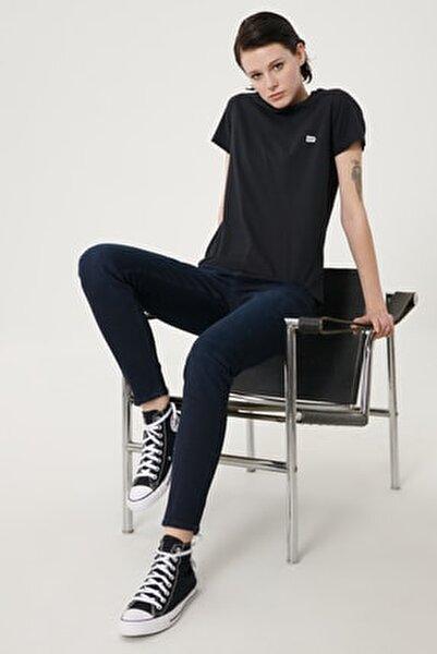 Kadın Koyu Mavi Scarlett High Skinny Fit Denim Esnek Jean Kot Pantolon