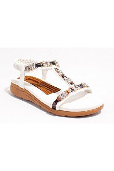 Guja Kadın  Beyaz Ortopedik Günlük Sandalet 21y120-27
