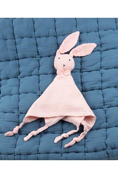 Cigit Pudra Pembe Tavşan Müslin Uyku Arkadaşı 40x40 cm