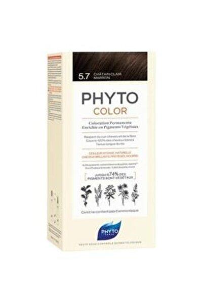 Color 5.7 - Açık Kestane Bakır (Bitkisel Saç Boyası) -