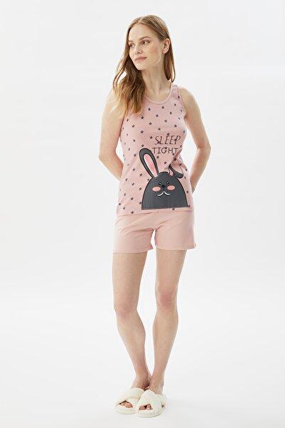 TRENDYOLMİLLA Baskılı Örme Pijama Takımı THMSS21PT1161