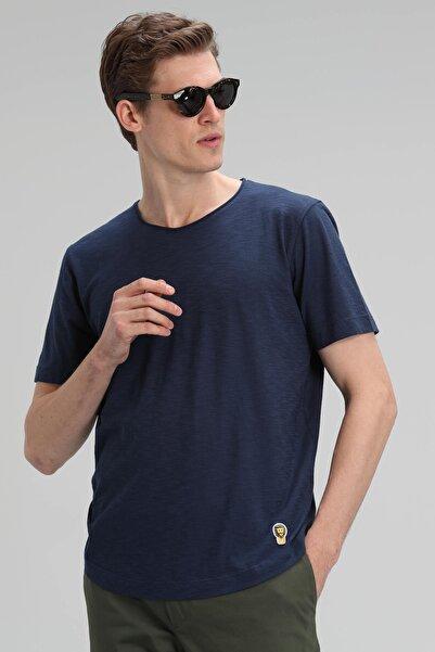 Lufian Junya Modern Grafik T- Shirt Lacivert