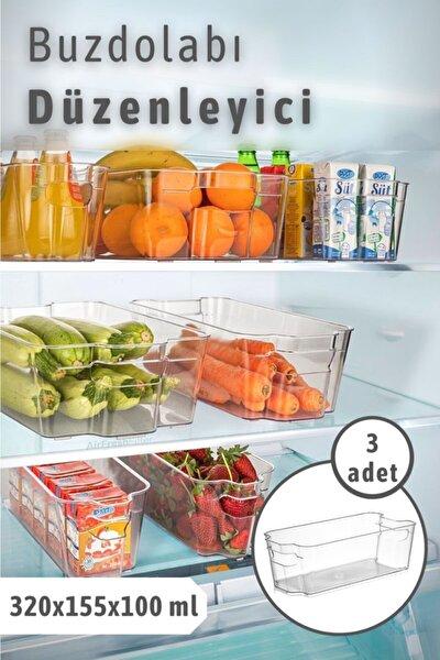 Bi' Home 3 Adet Clear Buzdolabı & Dolap Içi Düzenleyici Organizer Orta