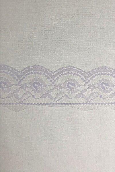 BERRİNMİLLA Lila Beyaz Dantel Güpür Bant Tekstil Aksesuarı (2 Mt)