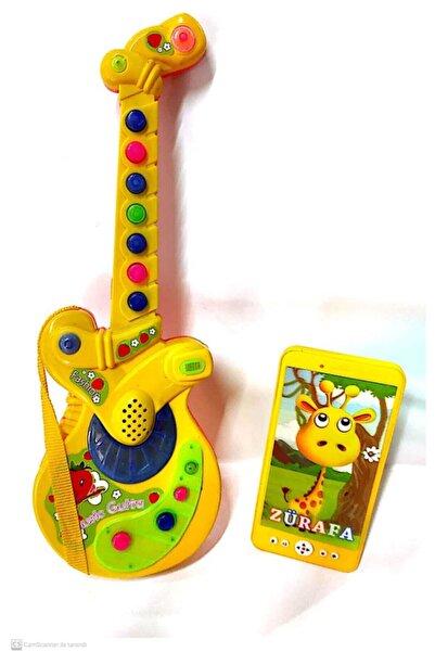 berattoys Berattoy Iki Ürün Birarada Pilli Işıklı Türkçe Müzikli Gitar&ışıklı Müzikli Cep Telefonu