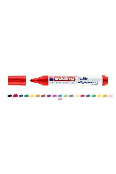 Edding Tekstil Markörü Kumaş Boyama Kalemi 2-3 Mm Kırmızı