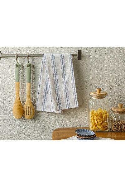 English Home Softy Stripe Pamuk Kurulama Bezi 40x60 Cm Mavi