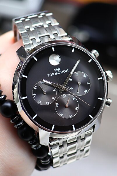 Ferrucci Erkek Gümüş Fonksiyonlu For Motion Kol Saati 129238 + Bileklik Hediye