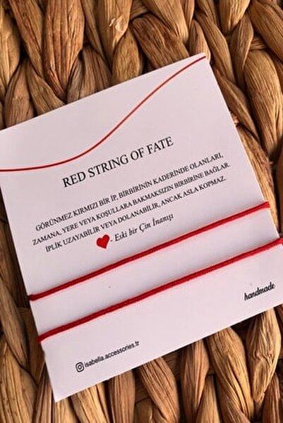 Kırmızı  Red String Ip Çift - Sevgili Bilekliği