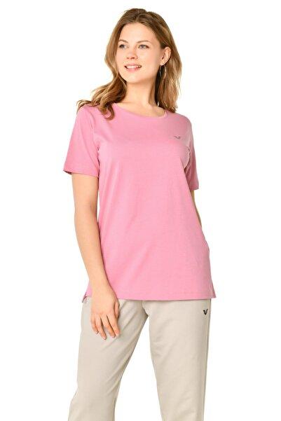bilcee Pembe Kadın T-shirt Is-9242