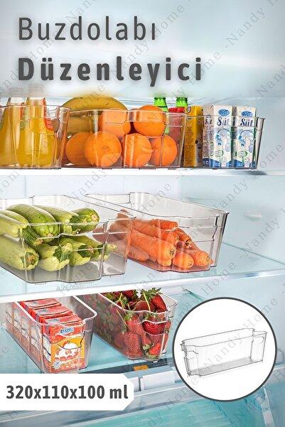 Nandy Home Buzdolabı & Dolap Içi Düzenleyici Organizer 320x110x100 Ml Şeffaf