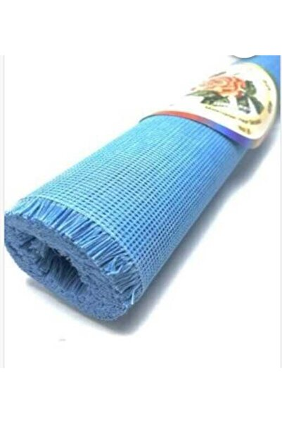 Bemsa Kaneviçe Kumaşı 8 No 2 Metre Mavi Renk En : 37 Cm.