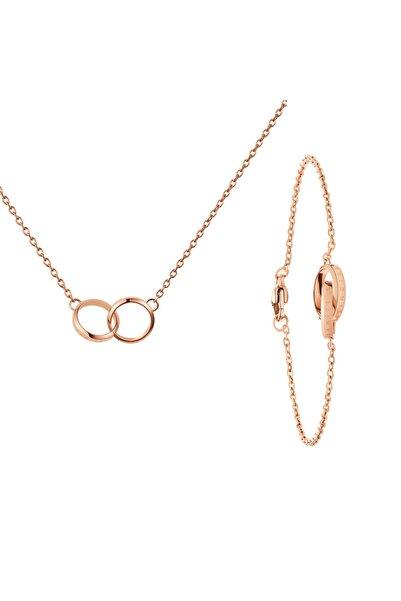 Daniel Wellington Dw00400166 Unıty_necklace Dw00400160 Unıty_bracelet(165 MM) Kadın Çelik Kolye Ve Bileklik