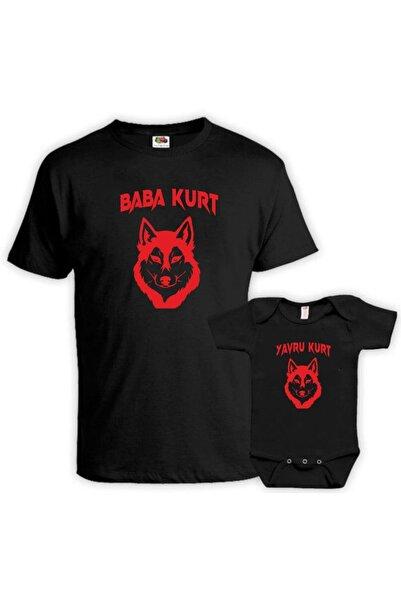 venüsdijital Baba Kurt Yavru Kurt Siyah Tişört Zıbın (baba Oğul Kombin Yapılabilir Fiyatları Ayrı Ayrıdır)