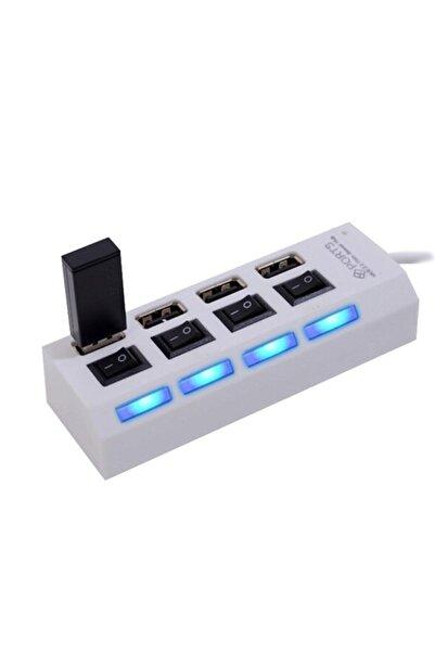 checkmate 4 Port Usb Hub 2.0 Çoklayıcı Anahtarlı Işıklı Çoğaltıcı Switch