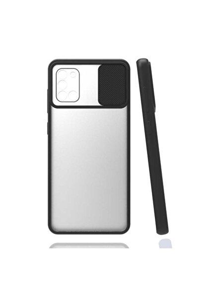 Samsung Galaxy A31 Slayt Kaydırmalı Kamera Korumalı Renkli Silikon Kılıf