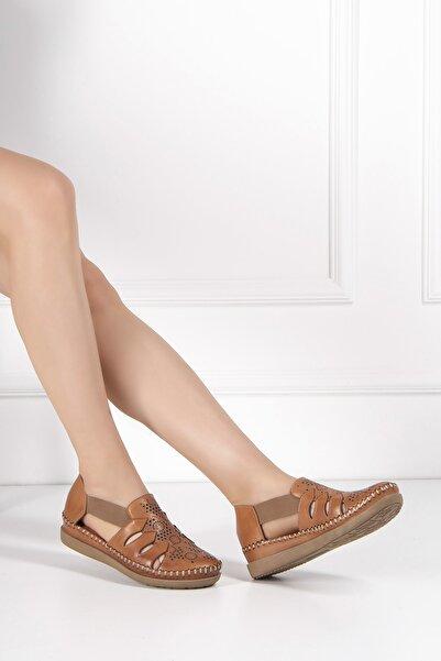 Venüs Kadın Taba Hakiki Deri Sandalet