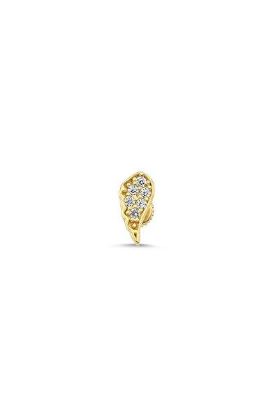 Altın Sepeti Kadın Sarı Melek Kanadı Altın Helix Piercing