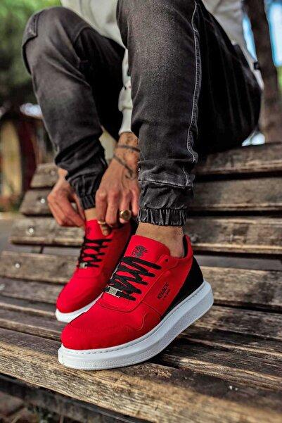 Stepsup Store Günlük Kırmızı Süet Erkek Sneakers