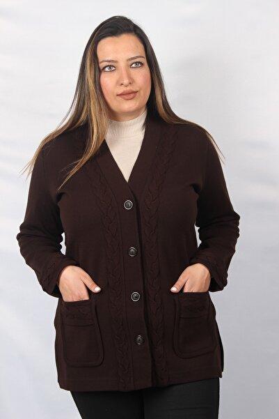 Sude Kadın Çelik Örgü Ceket 8444