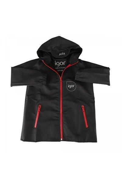 IGOR Unisex Çocuk Siyah Sparrow Yağmurluk Giyim W70100