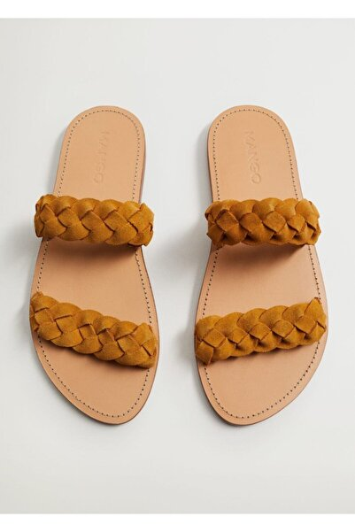 MANGO Woman Örgü Bantlı Sandalet