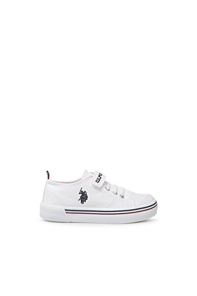 U.S. Polo Assn. Unısex Beyaz Penelope Sneaker Ayakkabı  1fx C