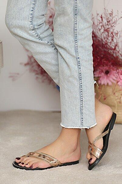 Pembe Potin Kadın Roz Sandalet