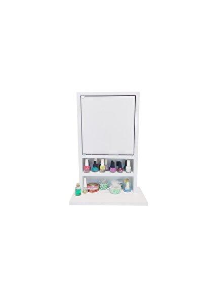 First Mobilya Beyaz Karanfil - Aynasız - Çok Amaçlı - Aksesuar - Takı Dolabı