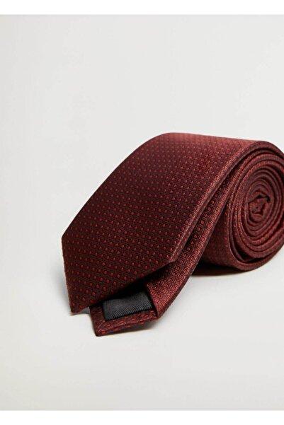 MANGO Man Erkek Kırmızı Geometrik Desenli Kravat