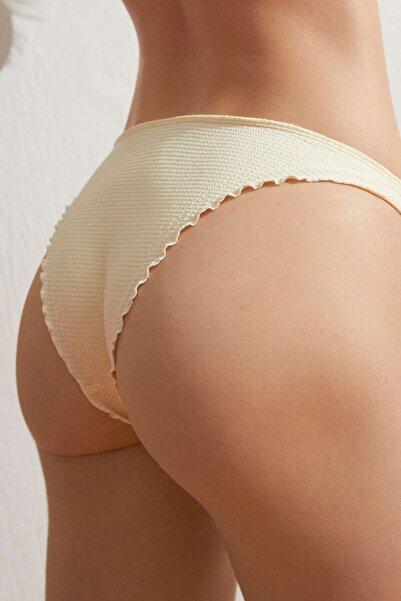 Oysho Kadın Büzgülü Seamless Brezilya Modeli Bikini Altı