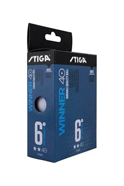 STIGA Winner 40+ 2 Yıldız Antrenman 6'lı Masa Tenisi Topu Pinpon Beyaz