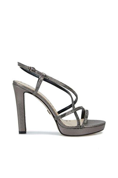 Dıvarese Kadın Silver Taşlı Bantlı Topuklu Ayakkabı