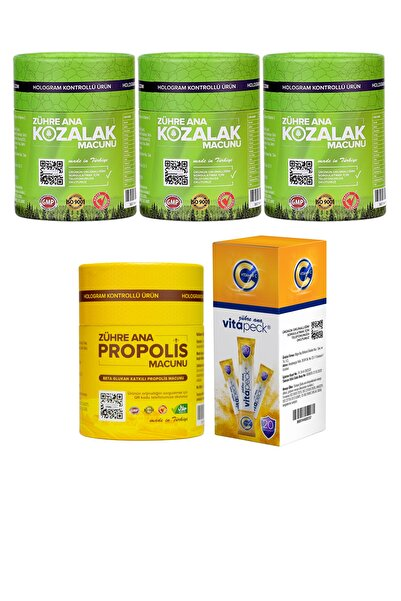 Zühre Ana Vip Paketi (3 Adet Kozalak Macunu + Propolis Macunu + Vitapeck) Hologramlı Ürün