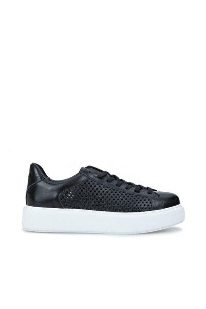Dıvarese Kadın Siyah Delik Dokulu Sneaker