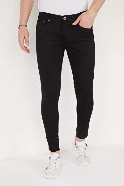 marco birsin Erkek Siyah Skinny Fit Likralı Bilek Boy Pantolon