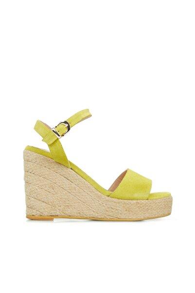 Dıvarese Kadın Sarı Bantlı Sandalet