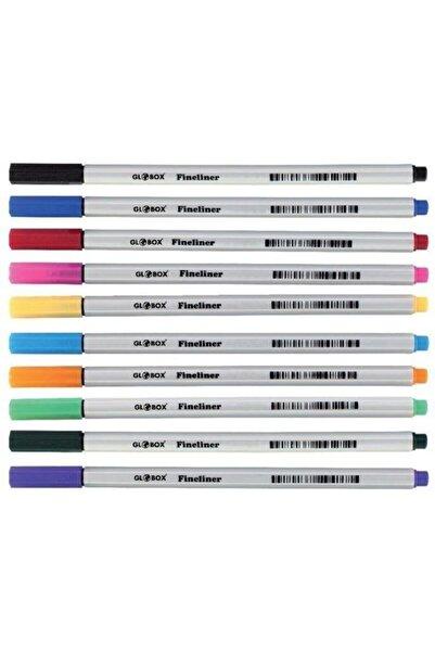 Globox Fineliner Keçe Uçlu Kalem 10 Renk Pvc Kutu