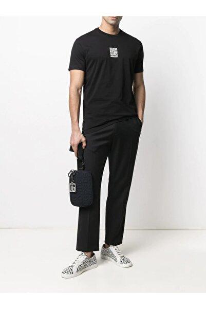 DSquared2 Unisex Qr Print Regular Siyah T-shirt