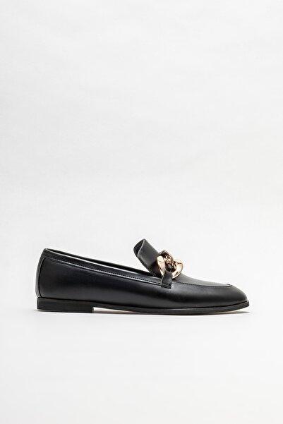 Elle Shoes Kadın Siyah Loafer Ayakkabı