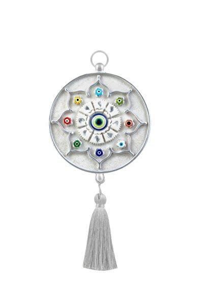 megatrend Gümüş Dekoratif Nazarlık Işlemeli Boncuklu Cam
