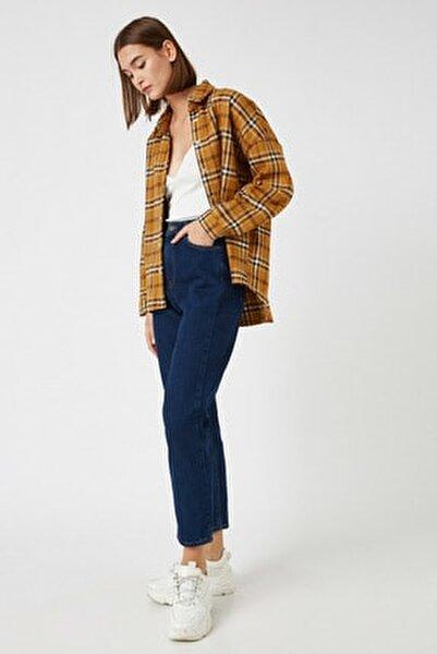 Kadın Mavi Pamuklu Jeans