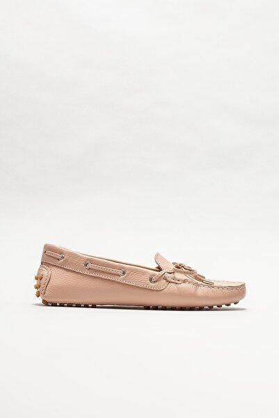 Elle Shoes Kadın Pembe Deri Loafer