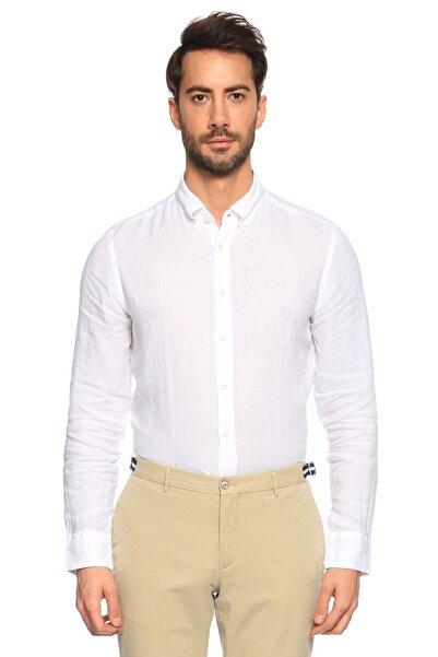 Hackett Erkek Beyaz Gömlek