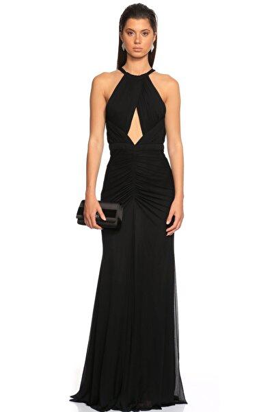 ALEXANDER MCQUEEN Kadın Siyah Gece Elbisesi