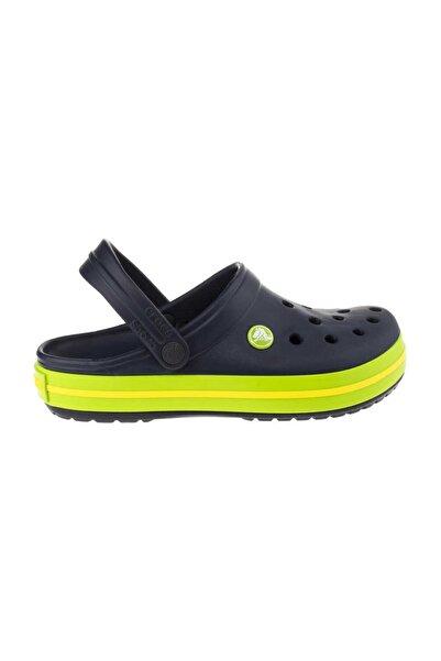 Crocs Lacivert Unisex Crocband Kenarı Yeşil Sarı Çizgili Terlik