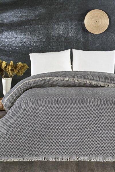 İpekçe Home Lacivert Pamuklu Lotus Pike Yatak Örtüsü