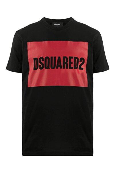 DSquared2 Unisex Siyah  Baskılı T-shirt