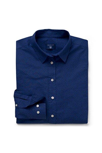 Gant Kadın Lacivert Noktalı Regular Gömlek